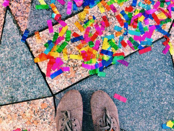 Copenhagen - Confetti from Eurovision Celebrations