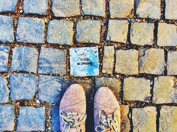 Geneva - Tiled Walkway Outside Globus