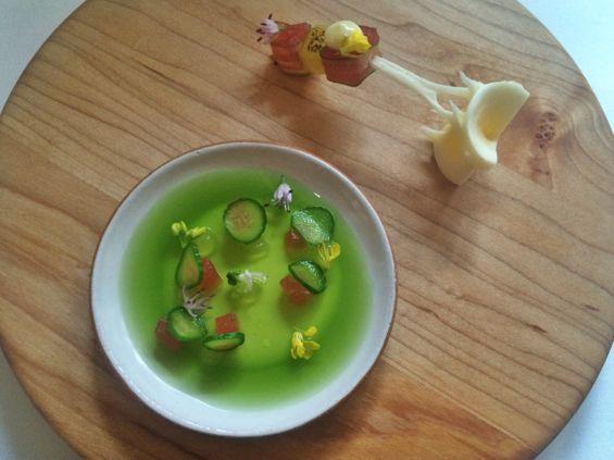Eleven Madison Park - Tuna & Cucumber Gelee